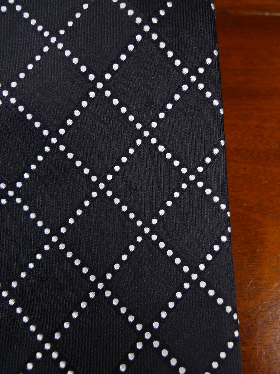 18/0925 TURNBULL & ASSER BLACK/WHITE 100% SILK TIE