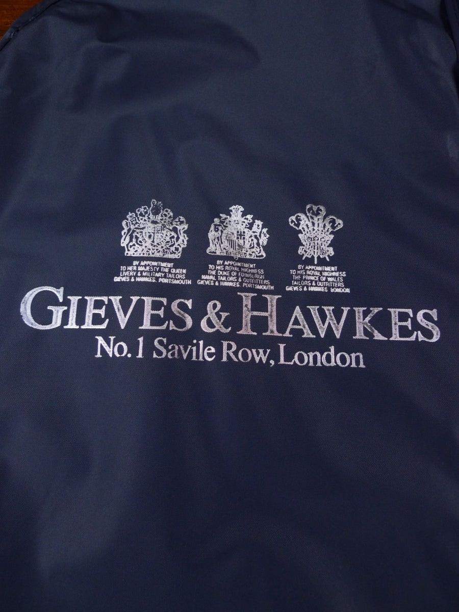 18/0932 gieves & hawkes savile row bespoke blue plastic suit carrier bag