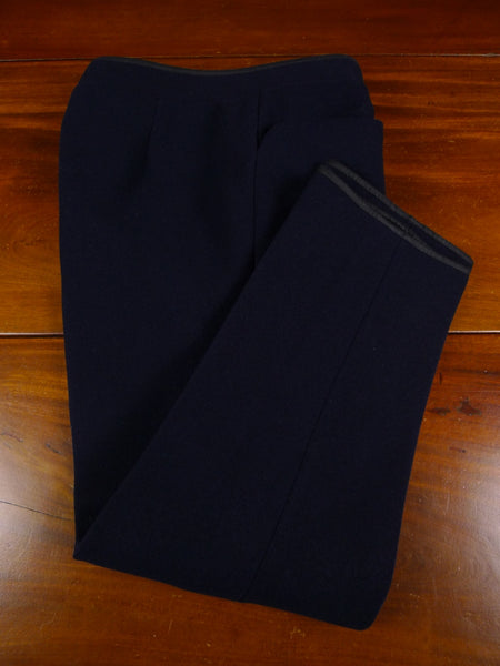19/0507 vintage huntsman savile row bespoke 3/4 length heavyweight blue cavalry twill riding breeches 29