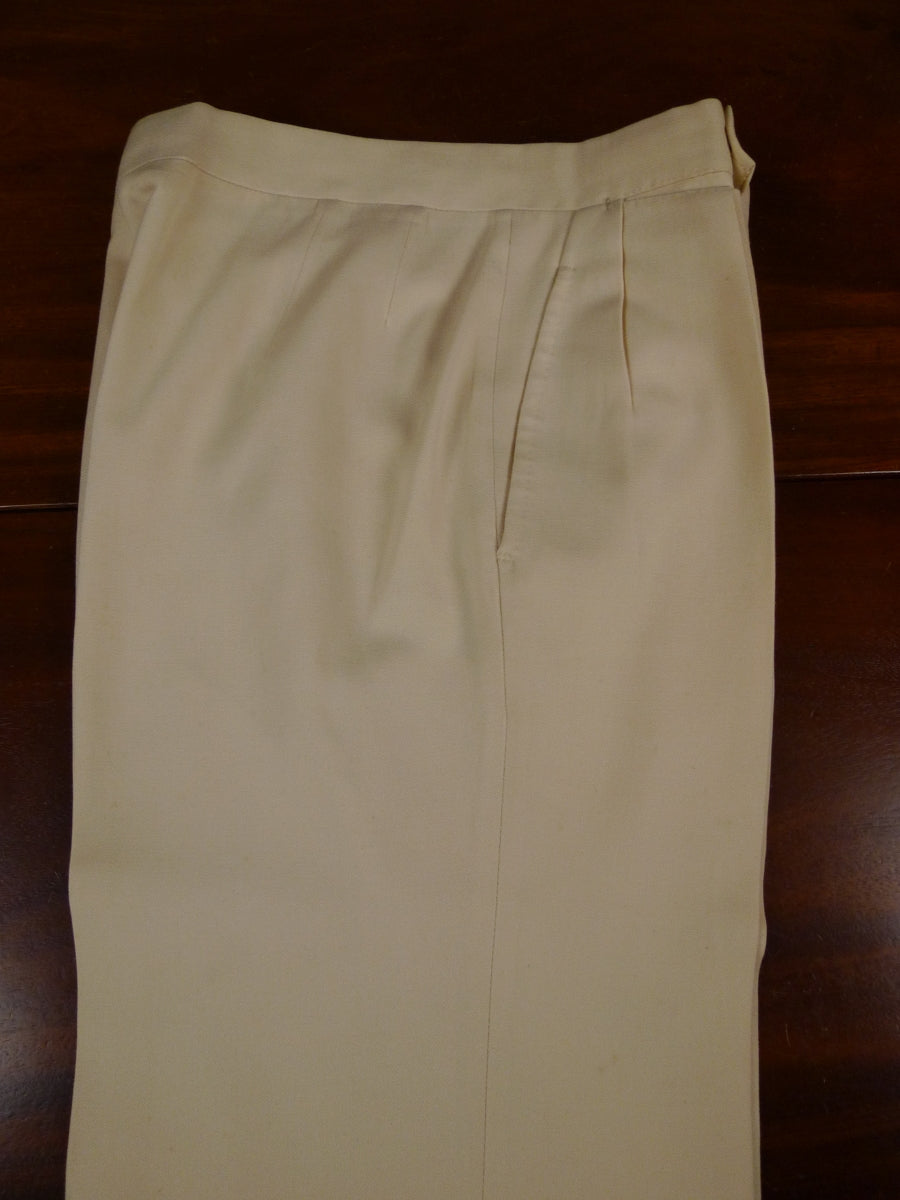 18/1170 vintage tailored cream cotton chino trouser for goodwood revival 28