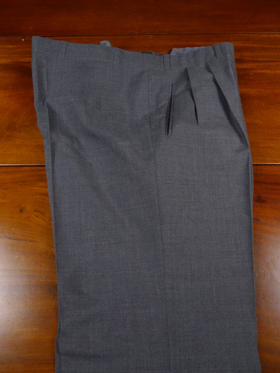 18/1044 near immaculate anderson & sheppard savile row bespoke lightweight grey wool trouser 41
