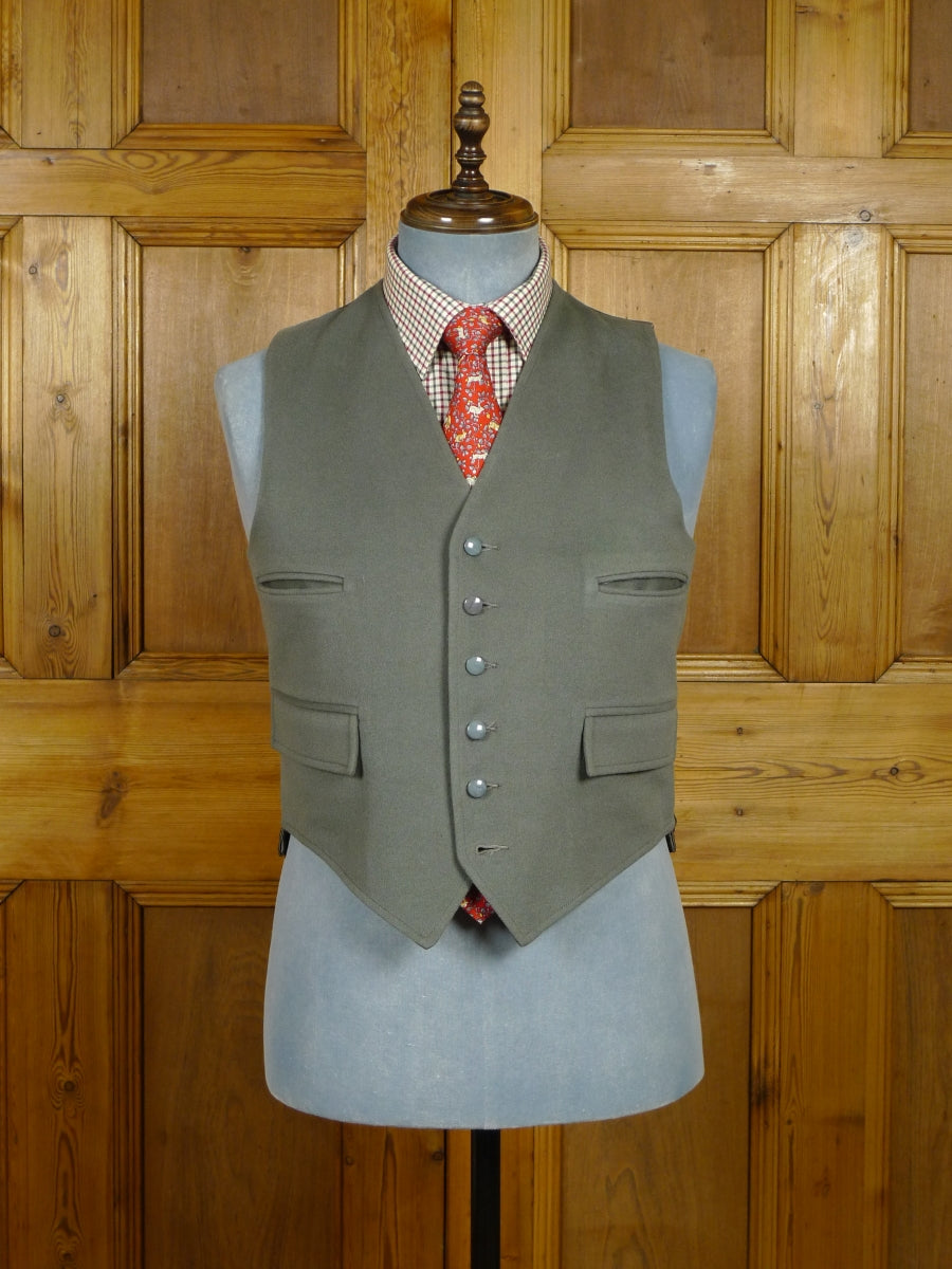 18/1048 vintage grey doeskin wool country waistcoat for goodwood revival 39-40 short