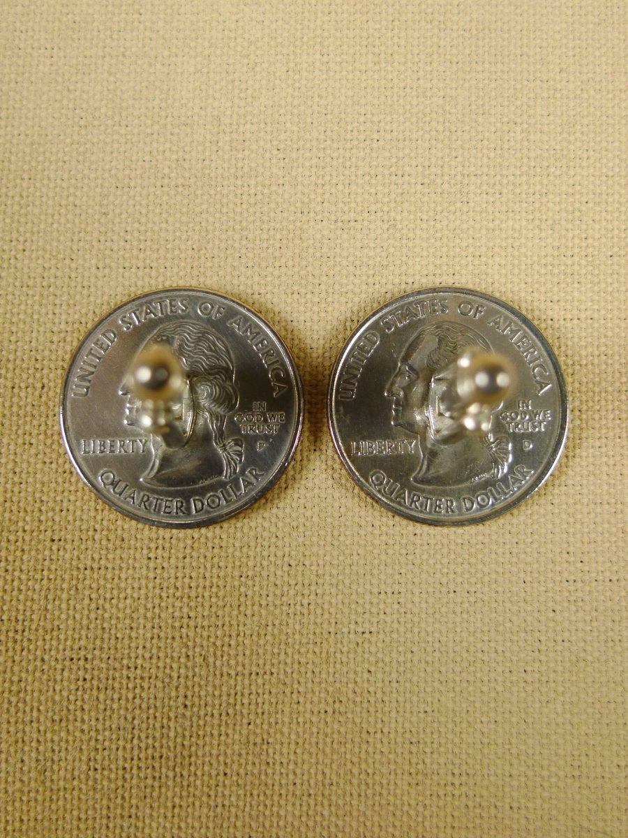 18/1129 brand new benson and clegg usa state quarter arkansas coin cufflinks rrp £100 (cc2055)