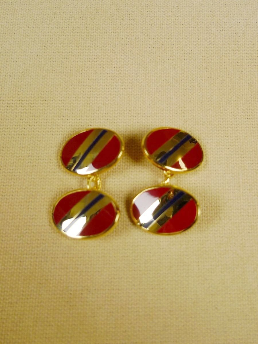 18/1145 brand new benson and clegg classic enamel chain cufflinks rrp £90 (733c)
