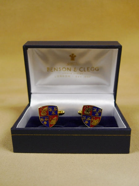 18/1150 brand new benson and clegg corpus christi college cambridge cufflinks rrp £70 (esc005)