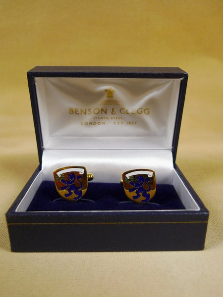 18/1151 brand new benson and clegg emmanuel college cambridge cufflinks rrp £70 (esc008)
