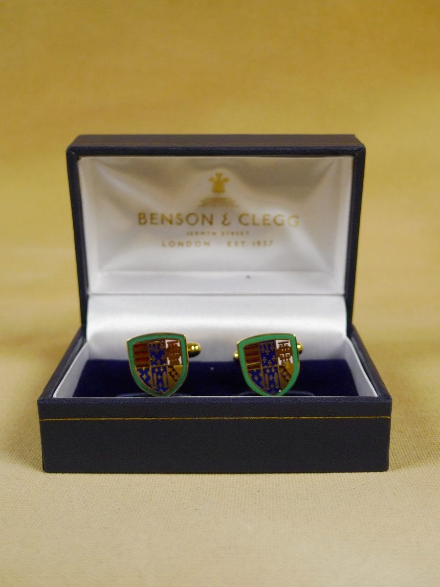 18/1152 brand new benson and clegg queens college cambridge cufflinks rrp £70 (esc019)