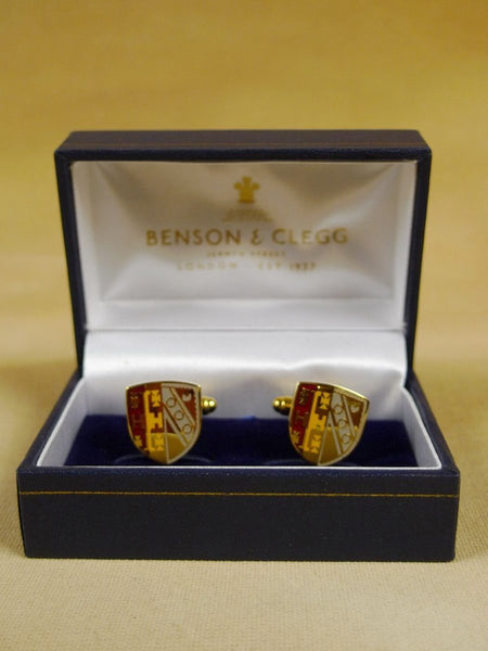 18/1153 brand new benson and clegg selwyn college cambridge cufflinks rrp £70 (esc021)
