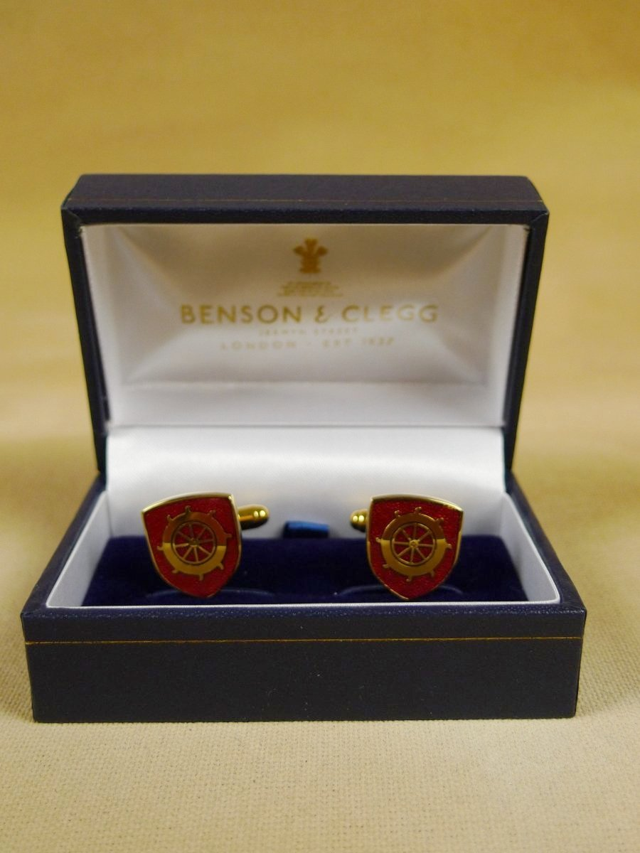 18/1154 brand new benson and clegg st catharine's college cambridge cufflinks rrp £70 (esc023)