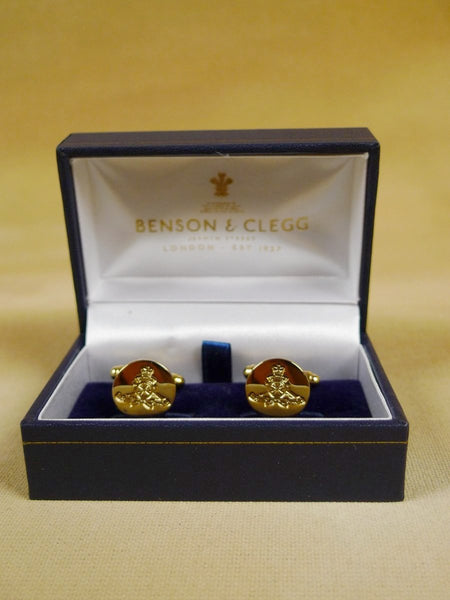 18/1206 brand new benson and clegg 'royal artillery' button cufflinks rrp £40 (t910)