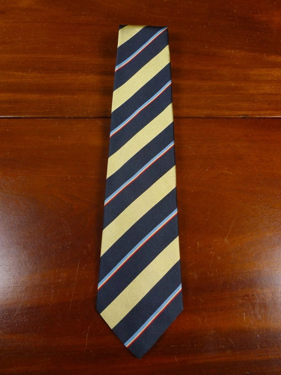 18/1202 brand new benson & clegg 'the queen's own hussars' (3rd/7th) military silk repp tie rrp £65 (011r)