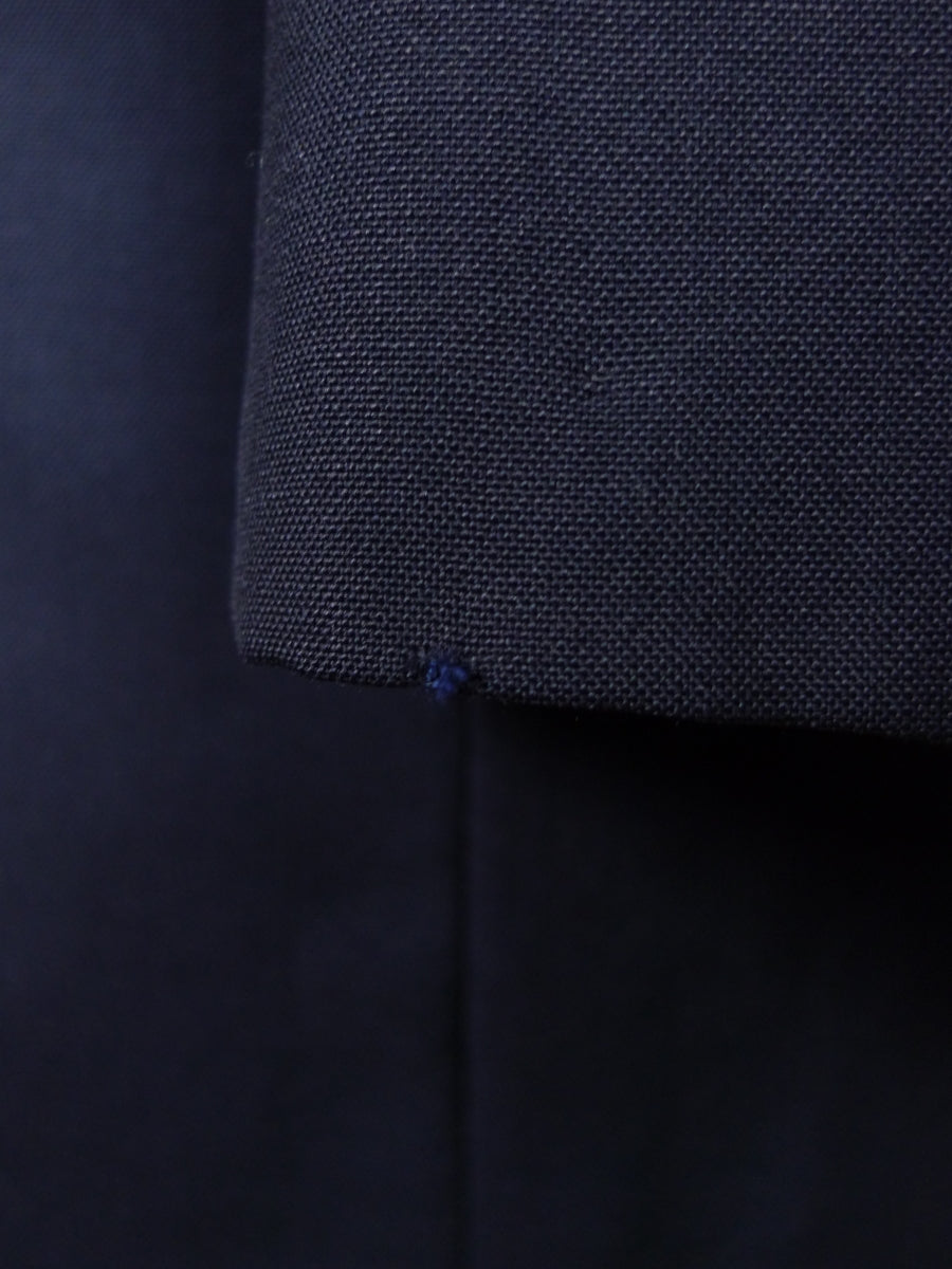 18/1126 vintage canvassed hong kong tailored navy blue wool & mohair suit 41 short