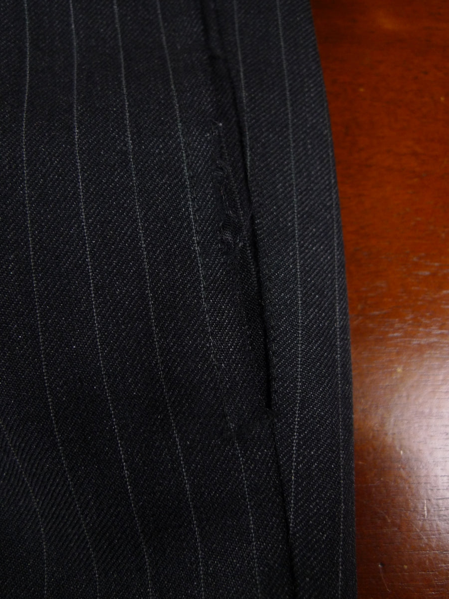 18/1119 canvassed hong kong tailored grey pin-stripe worsted suit 41 short