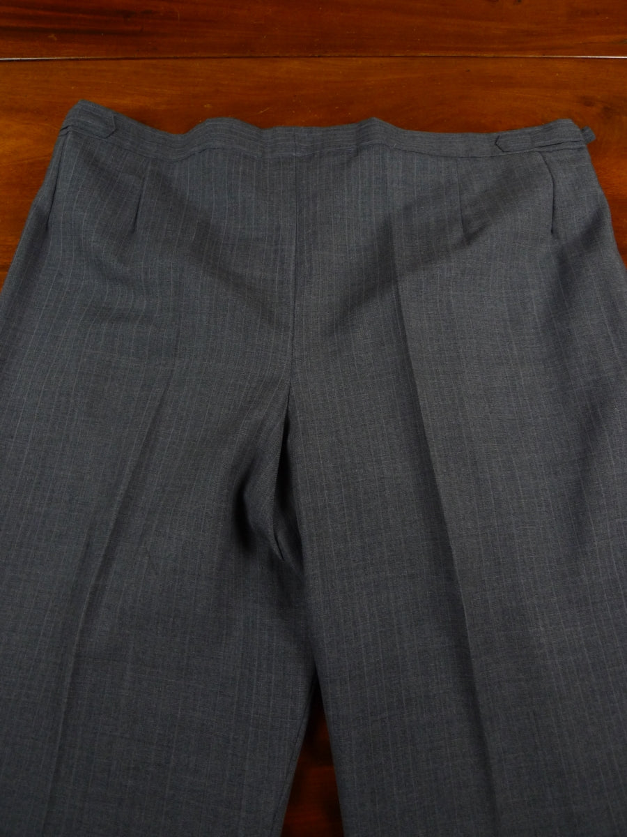18/1162 vintage hong kong tailored full canvas grey pin-stripe suit 40 short