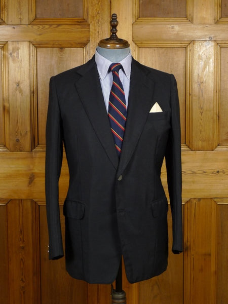18/1249 wonderful 1979 vintage welsh & jefferies savile row bespoke black mohair blazer 39-40 regular