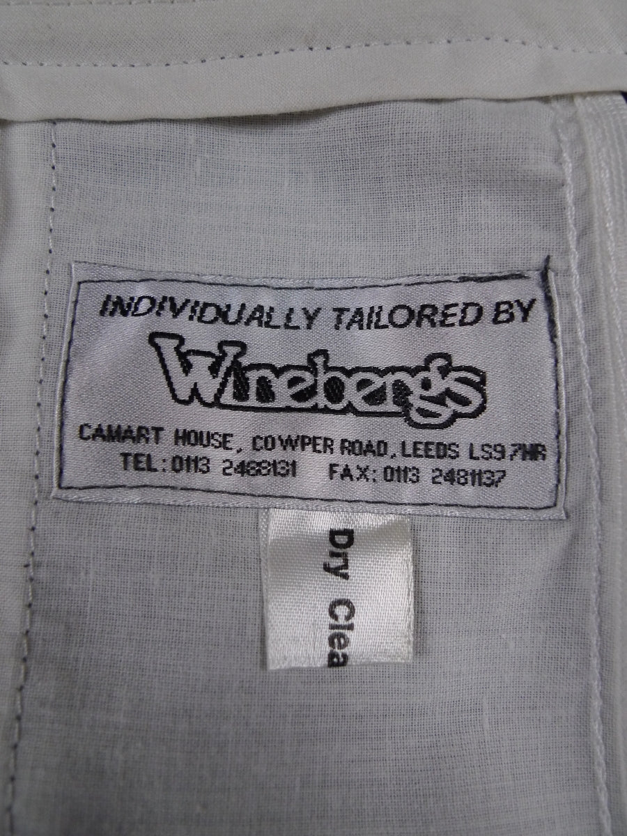 18/1263 vintage tailored light grey worsted trouser 38