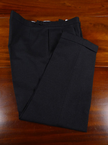 18/1264 vintage tailored dark grey wool mix trouser 39