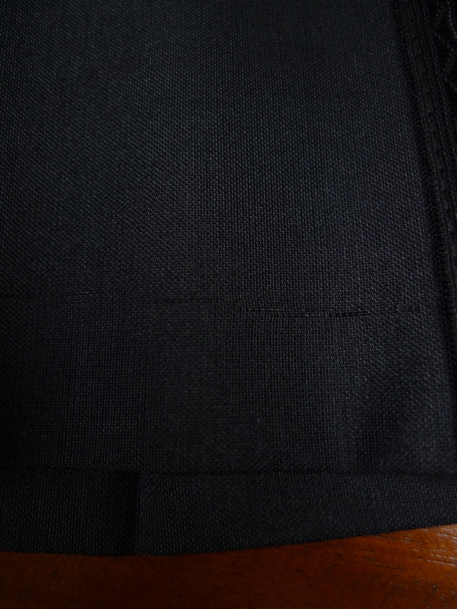 18/1185 vintage 1970s wool / mohair / poly mix black flared leg dinner trouser 35