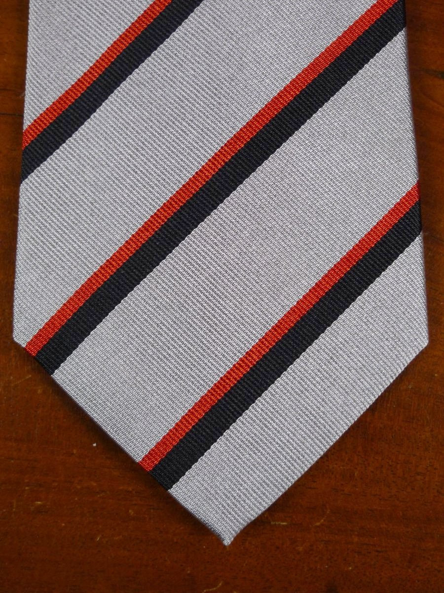 18/1307 brand new benson & clegg burlington arcade 'old ampleforth'  silk stripe tie rrp £65 (346)