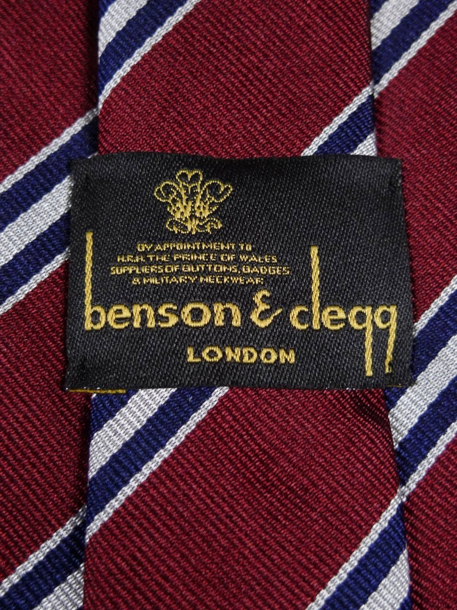 18/1314 brand new benson & clegg burlington arcade 'old kings' silk reppe tie rrp £65 (375)