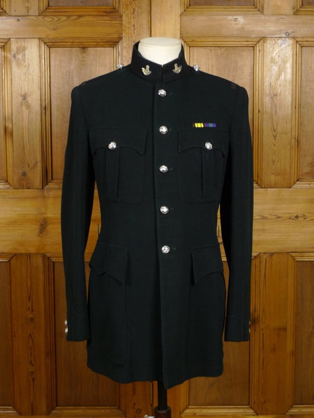 18/1297 vintage 1959 king's shropshire light infantry green dress jacket tunic 37 regular