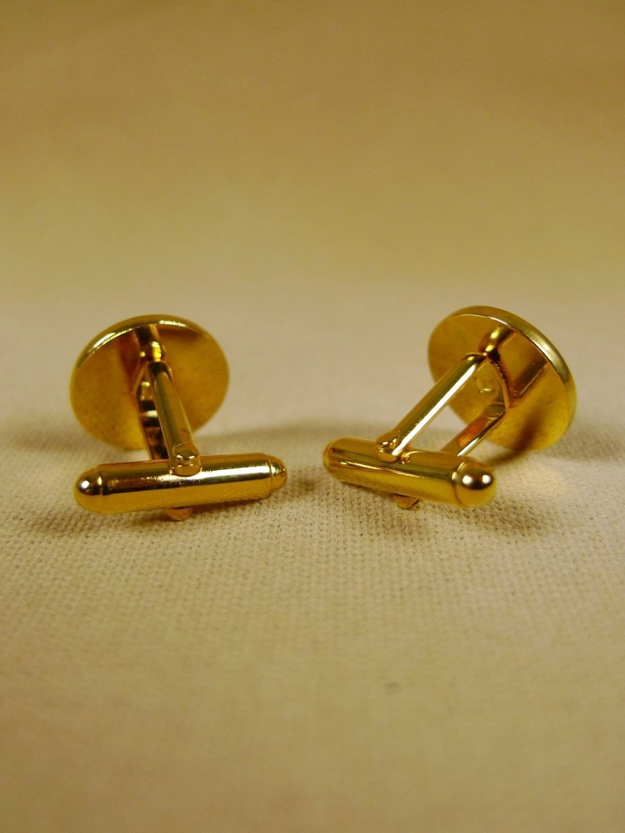 18/1326 brand new benson and clegg '9th -12th lancers' button cufflinks rrp £40 (t909)