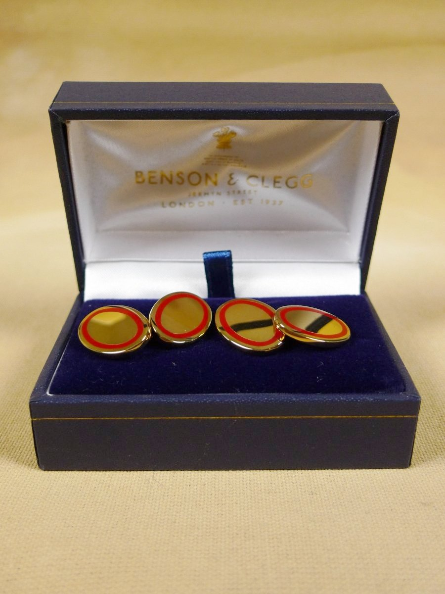 18/1328 brand new benson and clegg classic enamel chain cufflinks rrp £90 (721c)