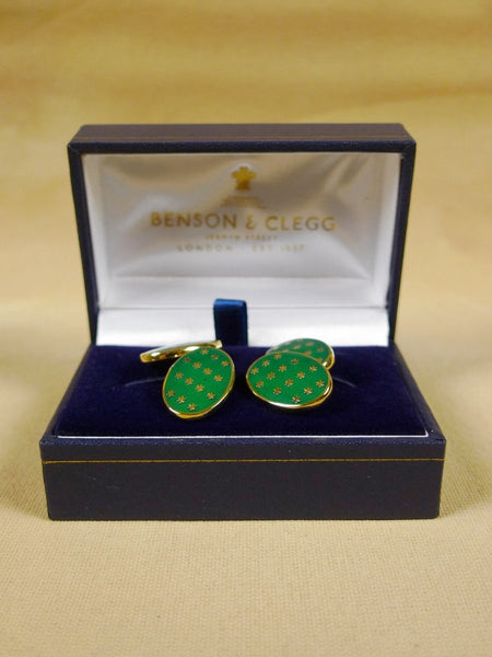 18/1329 brand new benson and clegg classic enamel chain cufflinks rrp £90 (718c)