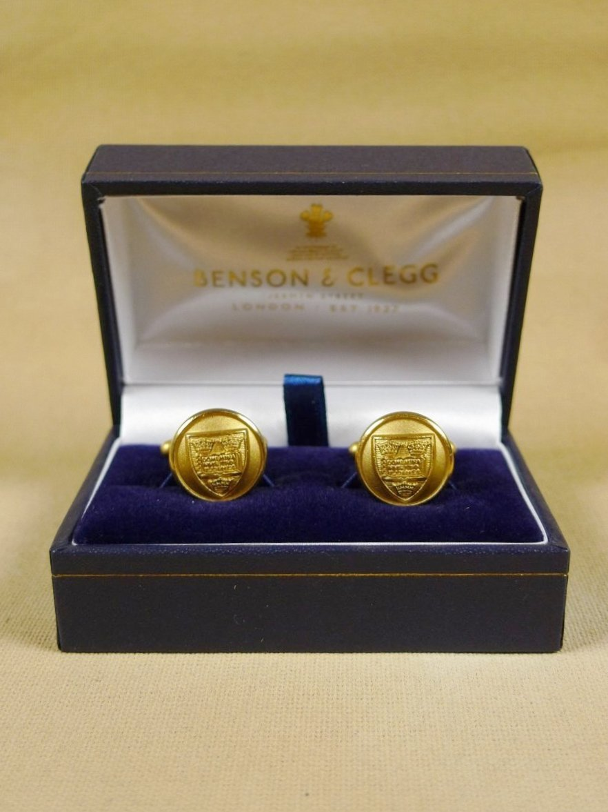 18/1352 brand new benson and clegg 'oxford university' button t-bar cufflinks rrp £40 (t905)