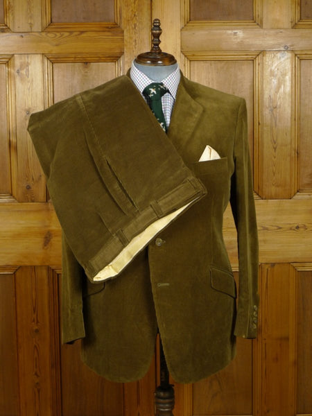 18/1370 hackett london green corduroy cotton country suit 44 regular