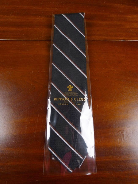 18/1362 brand new benson & clegg 'old hill mill' old school non crease silk tie rrp £65 (714nc)