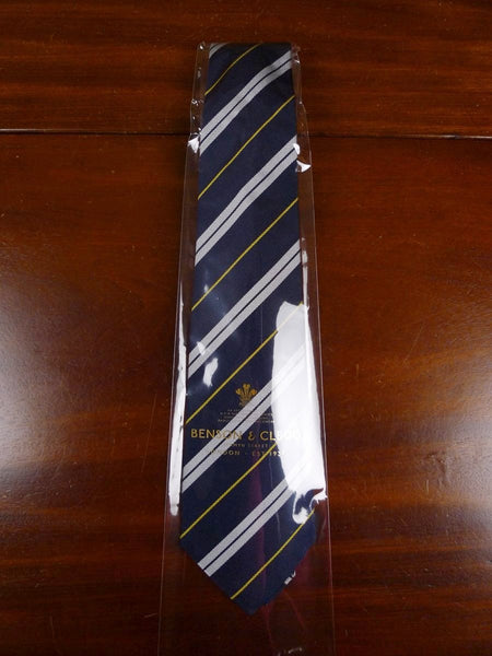 18/1365 brand new benson & clegg 'royal army service corps' military repp silk tie rrp £65 (196r)