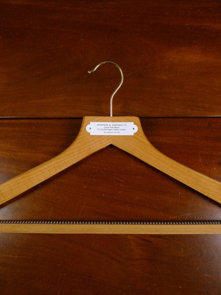 18/1385 anderson & sheppard savile row bespoke quality wooden hanger