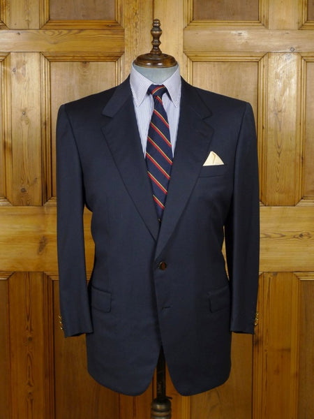 18/1392 near immaculate brioni canvassed luxury wool navy blue blazer (rrp £2000) 45 short