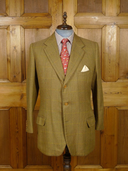 18/1394 vintage 1950s 1960s savile row bespoke wp check tweed jacket 43 regular to long