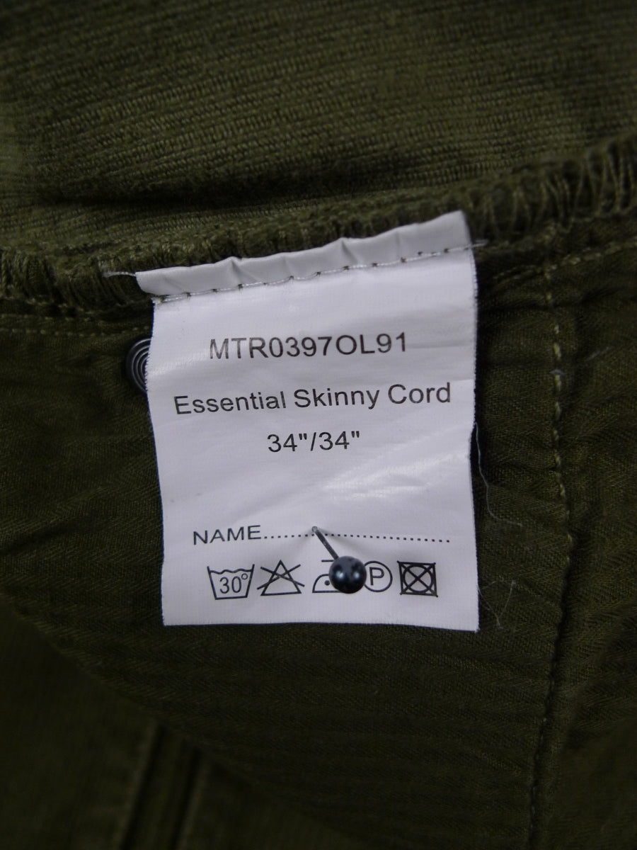 18/1431 barbour green corduroy jean trouser 34