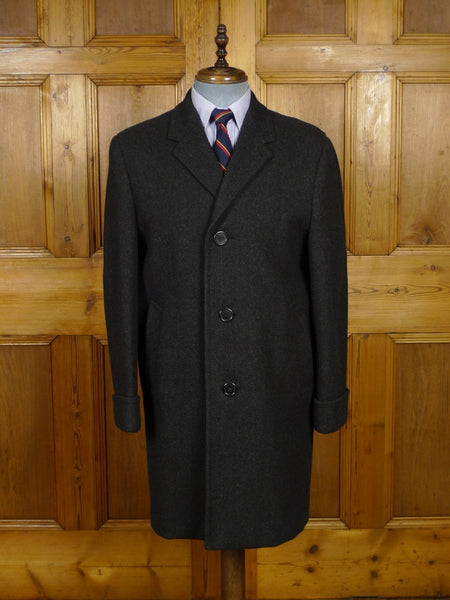 18/1436 heavyweight 1950s 1960s vintage grey wool overcoat 42 short