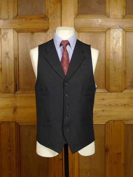 18/1426 hackett london grey herringbone wool lawyer style waistcoat 39 regular to long