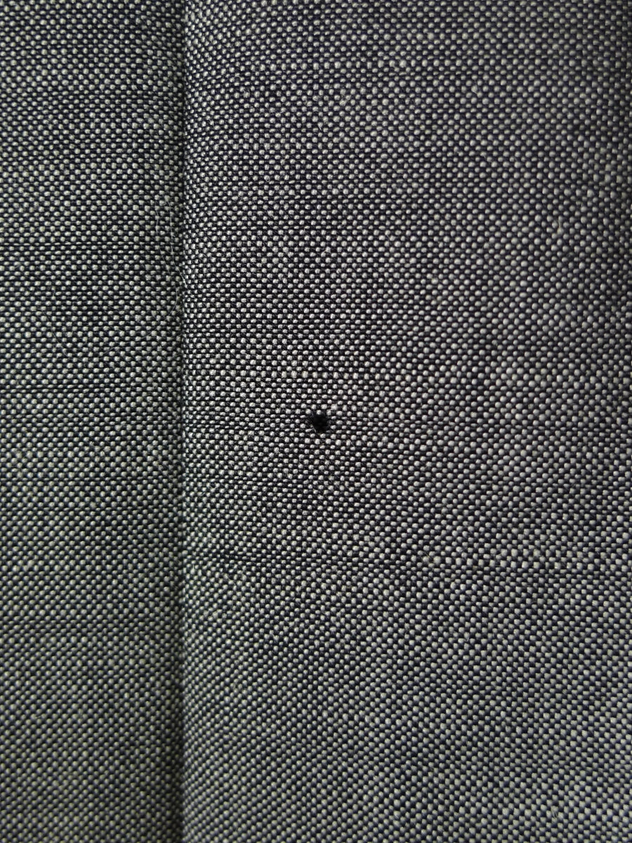 18/1502 richard anderson 2007 savile row bespoke grey wool & mohair suit (some damage) 44 regular