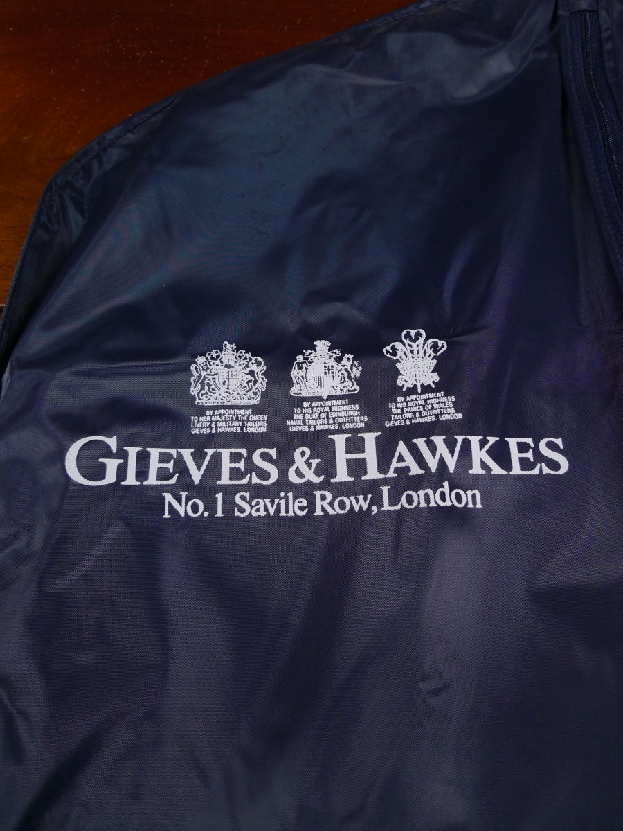 18/1620 gieves & hawkes savile row blue plastic suit bag carrier