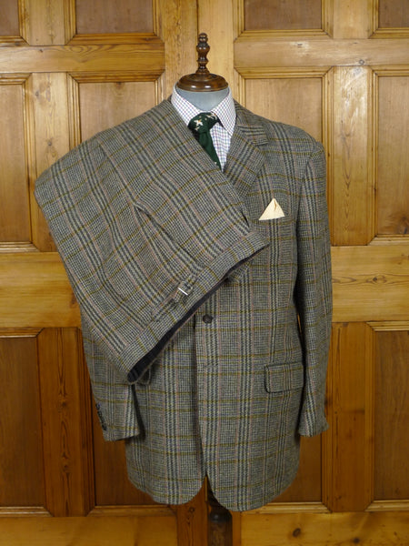 18/1526 paul smith westbourne house bespoke glen check tweed shooting suit (breeks) w/ paisley linings 47 regular to long