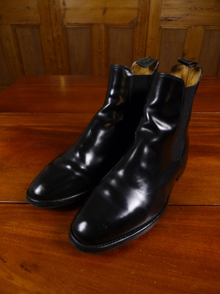 18/1548 excellent loake mahogany black leather chelsea boot uk 8