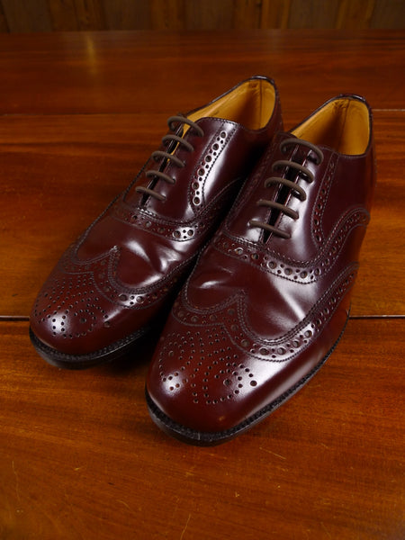 18/1547 immaculate british brown mahogany leather brogue shoe uk 8
