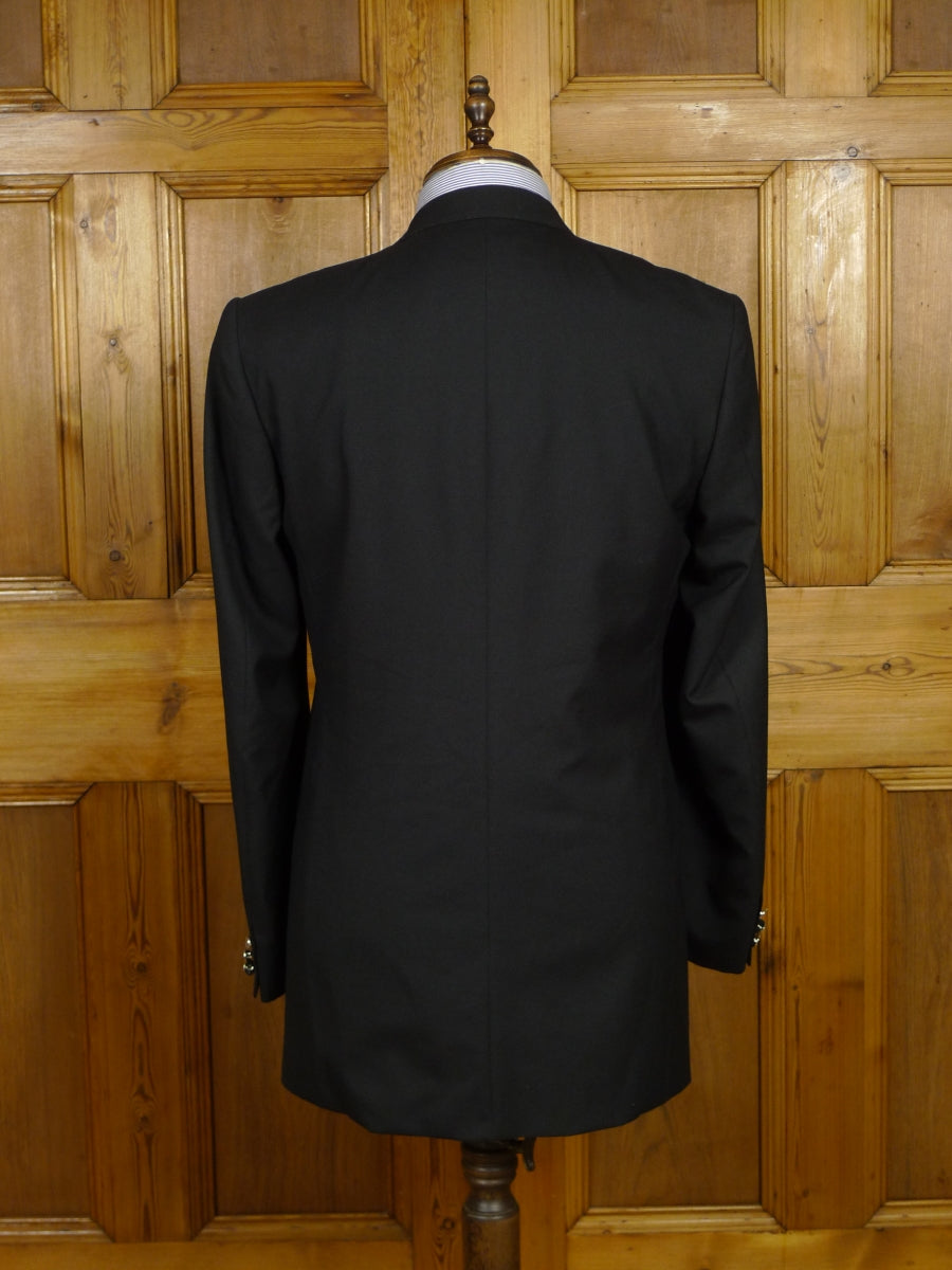 18/1586 new old stock crombie luxury wool silk black blazer 40 long (rrp £795)