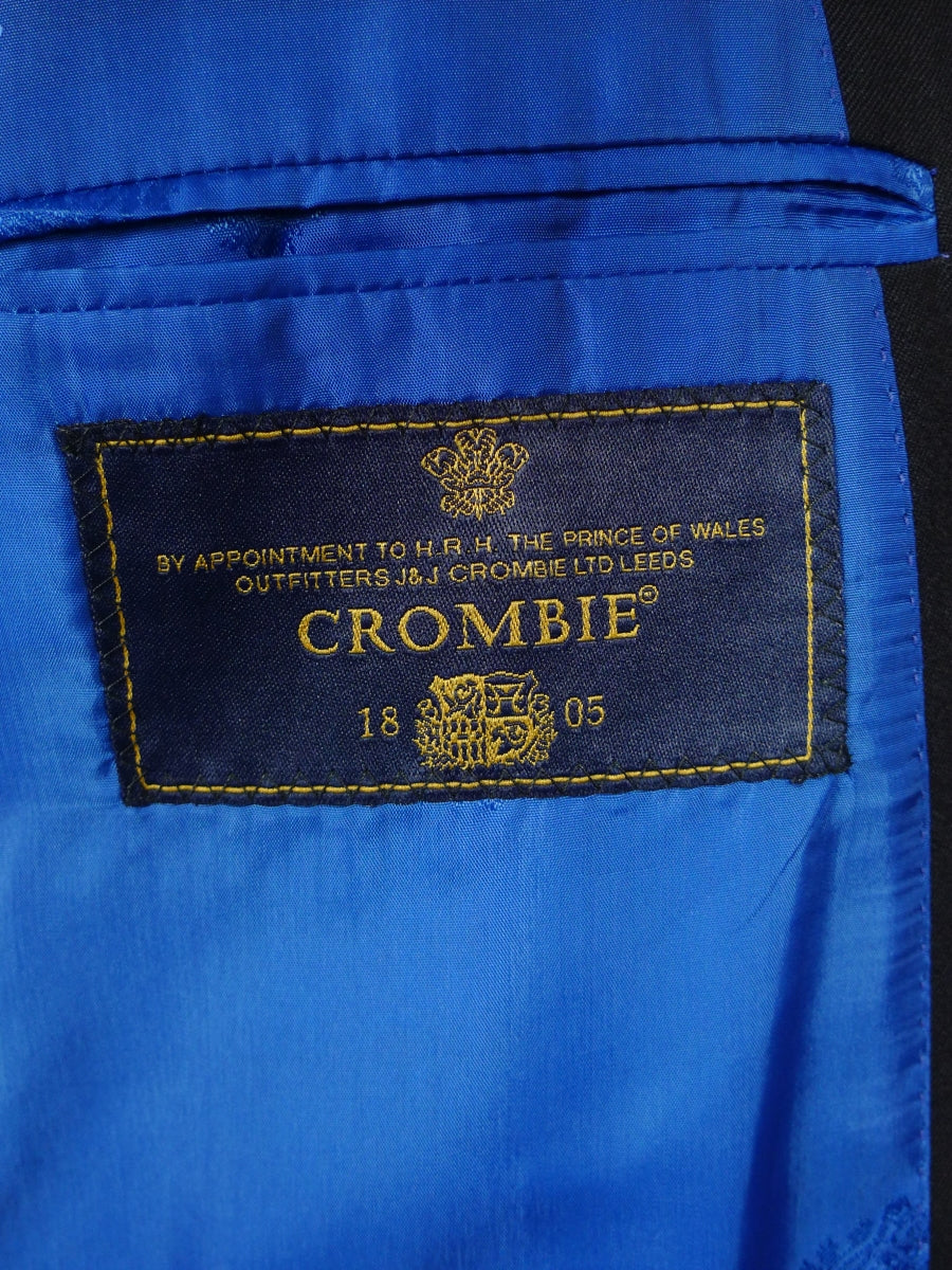 18/1583 new old stock crombie luxury wool silk cashmere black blazer 40 long (rrp £795)