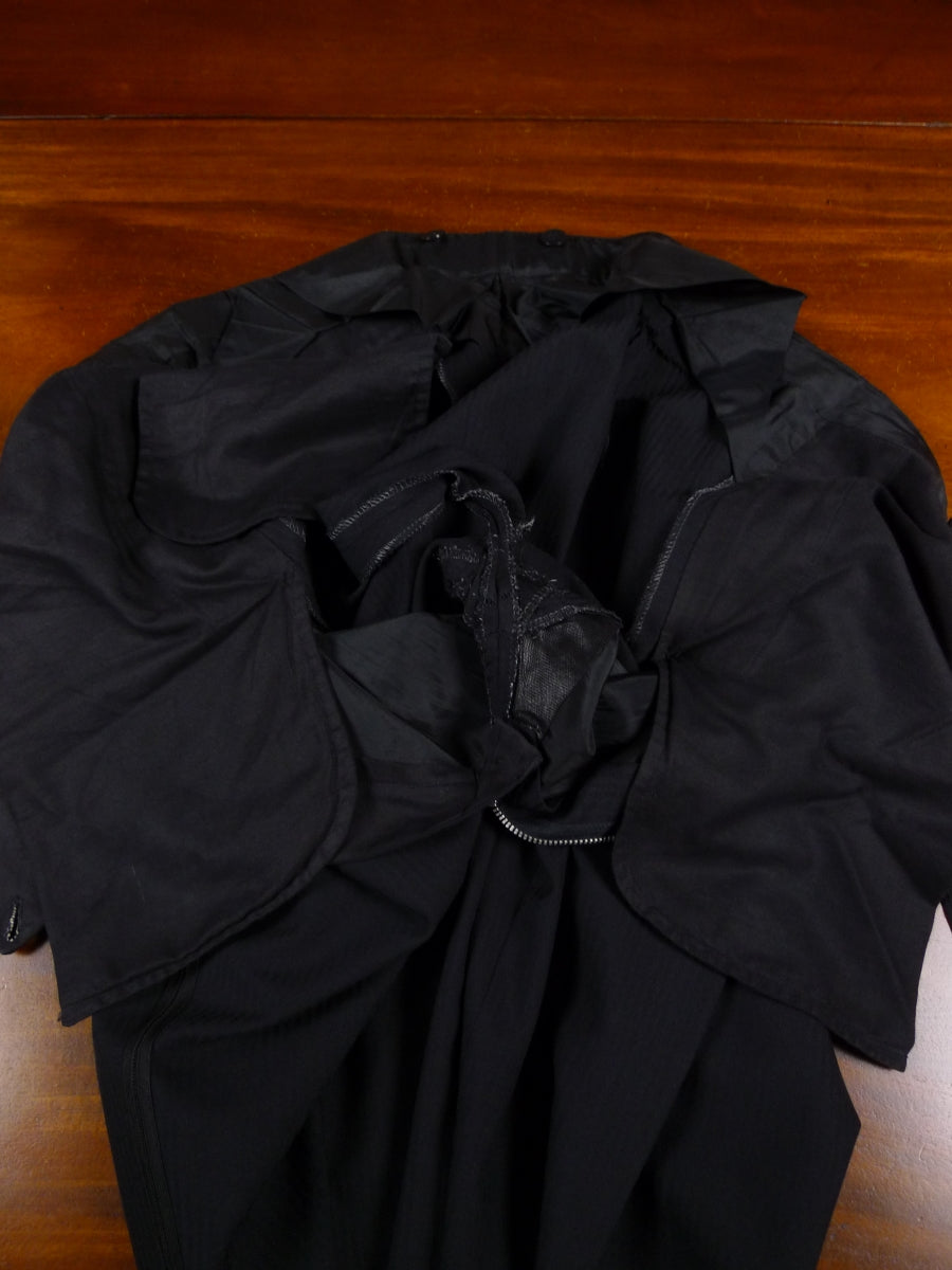18/1580 wonderful 1997 sulka true bespoke luxury black silk dinner suit 48 long