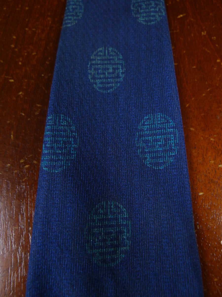 18/1602 HERMES blue green PATTERN SILK TIE
