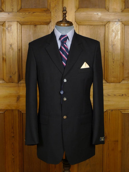 18/1599 NEW OLD STOCK CROMBIE LUXURY WOOL CASHMERE BLACK BLAZER 40 LONG (RRP £795)