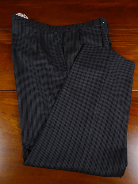 18/1645 immaculate bespoke tailored high-rise cashmere stripe worsted morning trouser 47
