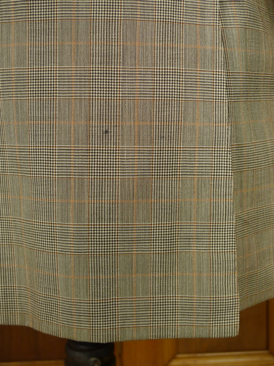 18/1675 vintage bespoke tailor canvasssed glen check worsted suit jacket & matching waistcoat 42 regular